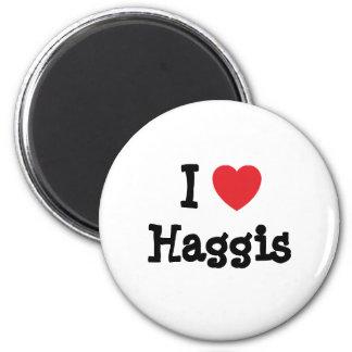I love Haggis heart T-Shirt Fridge Magnets