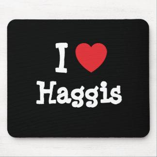 I love Haggis heart T-Shirt Mouse Pads