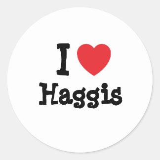 I love Haggis heart T-Shirt Sticker