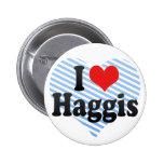 I Love Haggis Pinback Button