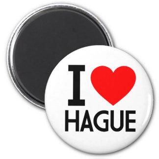 I Love Hague 2 Inch Round Magnet