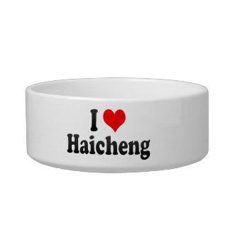 I Love Haicheng, China. Wo Ai Haicheng, China Cat Food Bowl