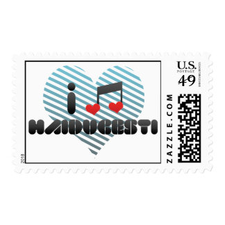 I Love Haiducesti Stamp