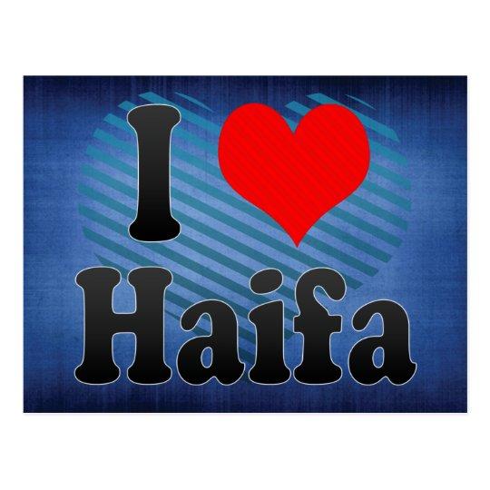 I Love Haifa, Israel Postcard