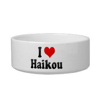 I Love Haikou, China Cat Water Bowl