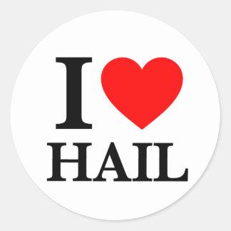 I Love Hail Round Stickers
