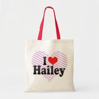I Love Hailey Budget Tote Bag