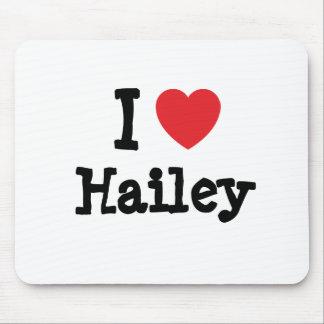 I love Hailey heart T-Shirt Mouse Pad