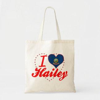 I Love Hailey Idaho Canvas Bag