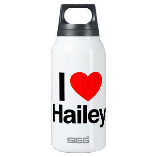 i love hailey 10 oz insulated SIGG thermos water bottle