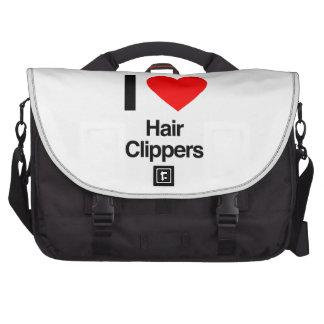 i love hair clippers laptop messenger bag