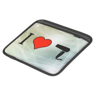 I Love Hair Dryer iPad Sleeves