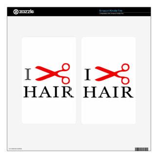 I Love Hair, I Cut Hair, I love Barbers, I Love Decals For Kindle Fire