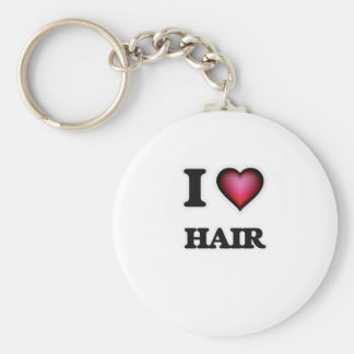 I love Hair Keychain