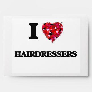 I Love Hairdressers Envelopes