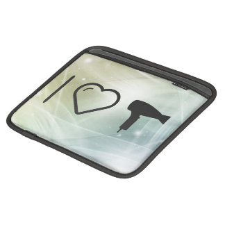 I Love Hairdryer Blowers iPad Sleeve