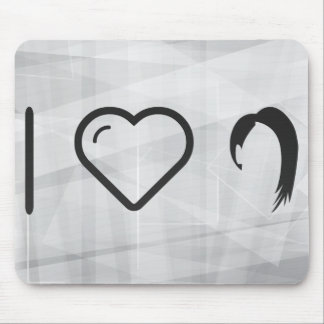 I Love Hairstyle Cuts Mouse Pad