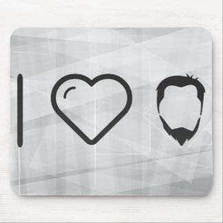 I Love Hairstyles Mouse Pad
