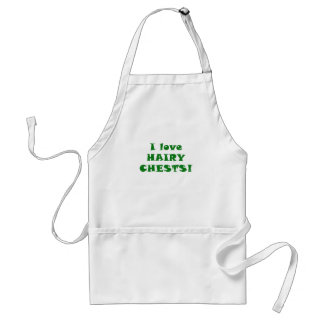 I Love Hairy Chests Apron