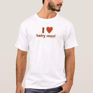 I Love (Hairy Heart) Hairy Men Funny Tee Template
