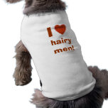 I Love Hairy Men Funny Doggie Tee Template