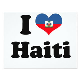 I LOVE HAITI 2 PERSONALIZED ANNOUNCEMENTS