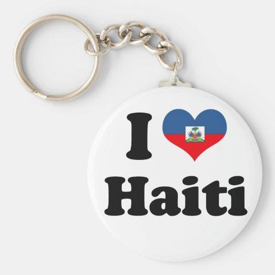 I LOVE HAITI 2 KEYCHAIN