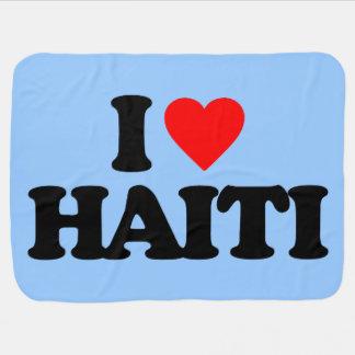 I LOVE HAITI BABY BLANKETS