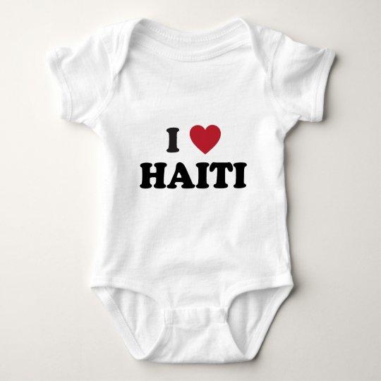I Love Haiti Baby Bodysuit