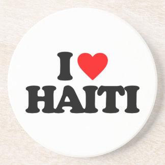 I LOVE HAITI BEVERAGE COASTERS