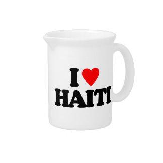 I LOVE HAITI BEVERAGE PITCHER