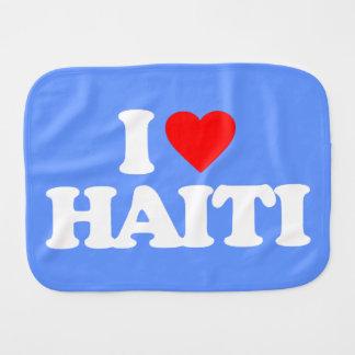 I LOVE HAITI BURP CLOTHS