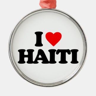 I LOVE HAITI CHRISTMAS ORNAMENT