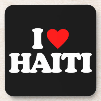 I LOVE HAITI DRINK COASTER