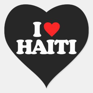 I LOVE HAITI HEART STICKER