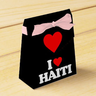 I LOVE HAITI PARTY FAVOR BOX