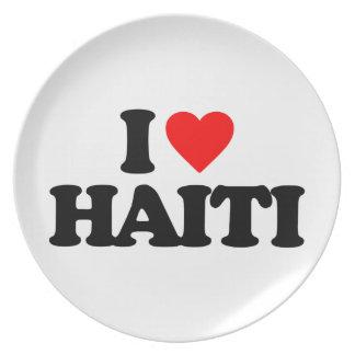 I LOVE HAITI PARTY PLATES