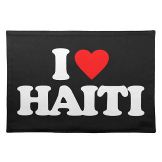 I LOVE HAITI PLACE MATS
