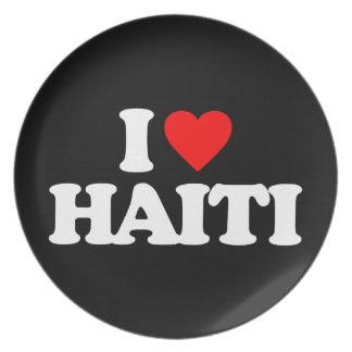 I LOVE HAITI PLATE