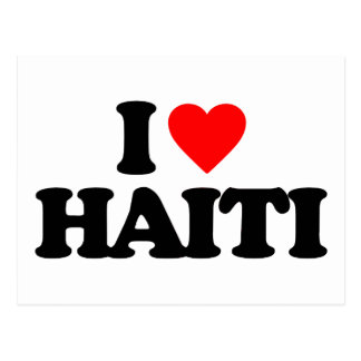 I LOVE HAITI POSTCARD