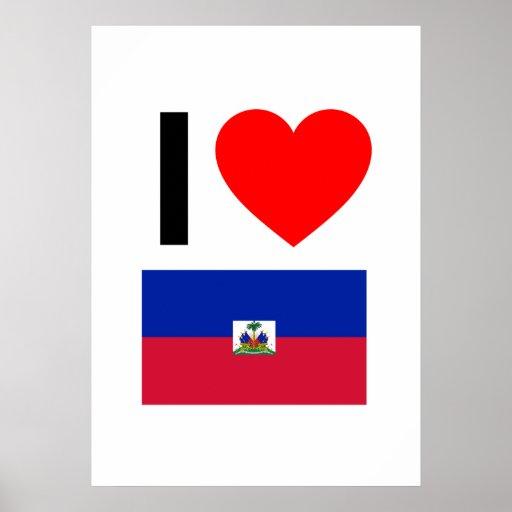 i love haiti print