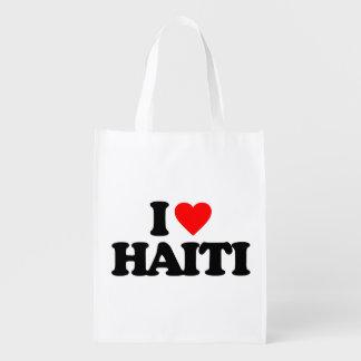 I LOVE HAITI REUSABLE GROCERY BAG