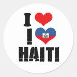 I LOVE HAITI STICKERS