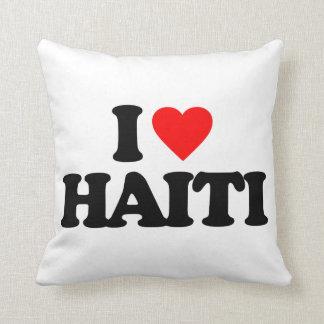 I LOVE HAITI THROW PILLOWS