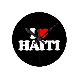 I LOVE HAITI WALLCLOCKS