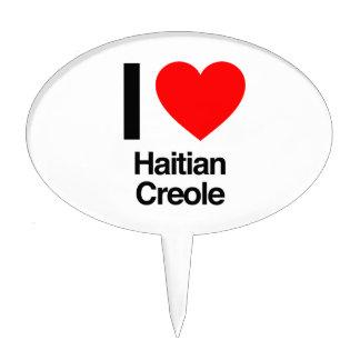 i love haitian creole cake toppers