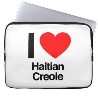 i love haitian creole computer sleeve