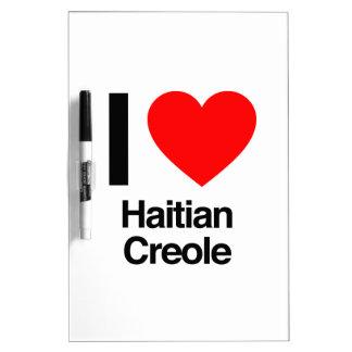 i love haitian creole dry erase white board