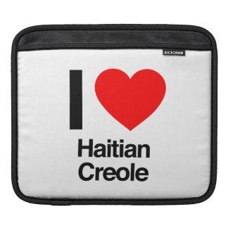 i love haitian creole iPad sleeves
