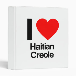 i love haitian creole vinyl binder